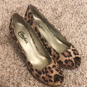 Candie's Size 6.5 Cheetah Heels